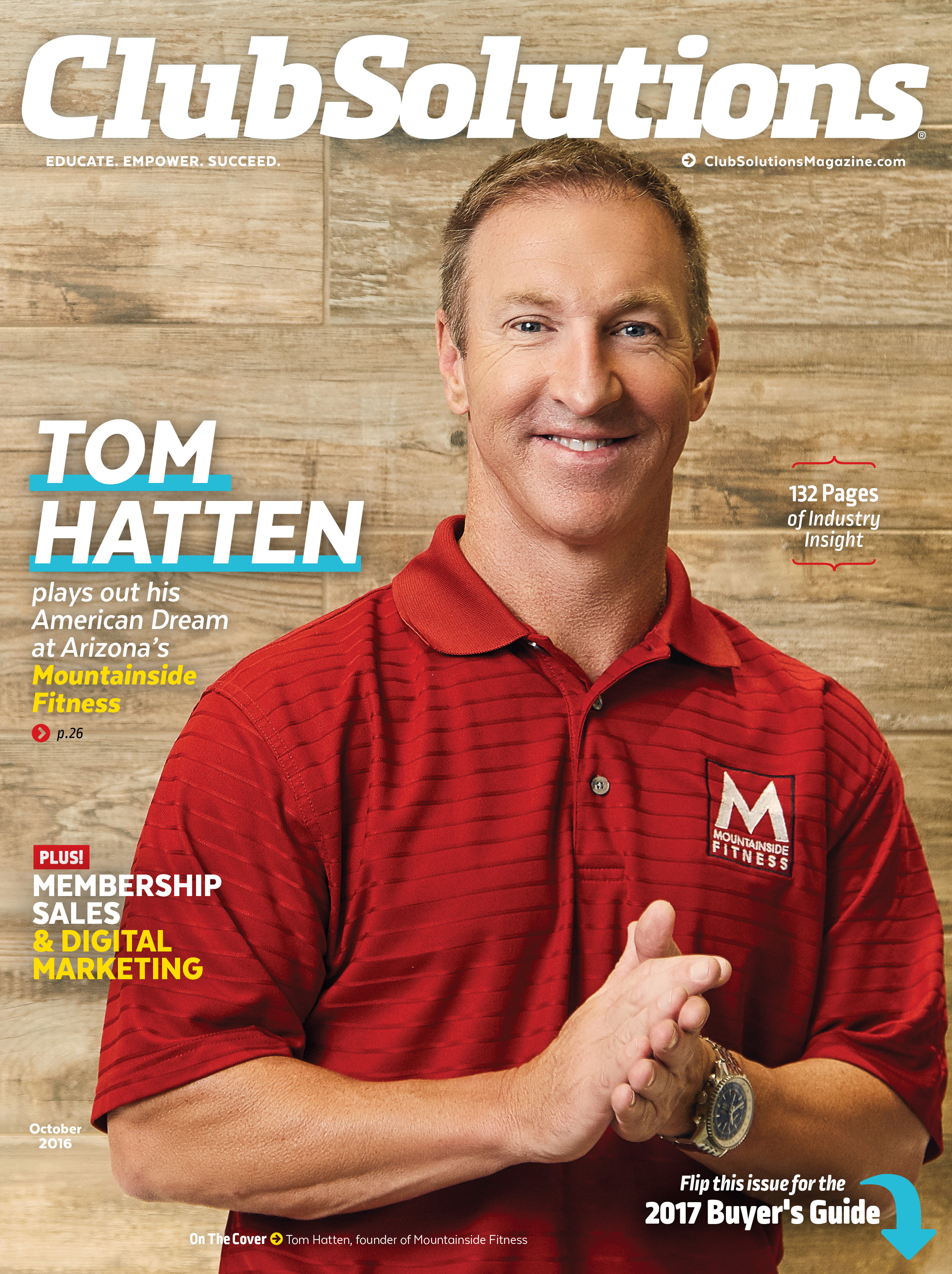 Club Solutions Magazine Cover - Mountainside Fitness Tom Hatten