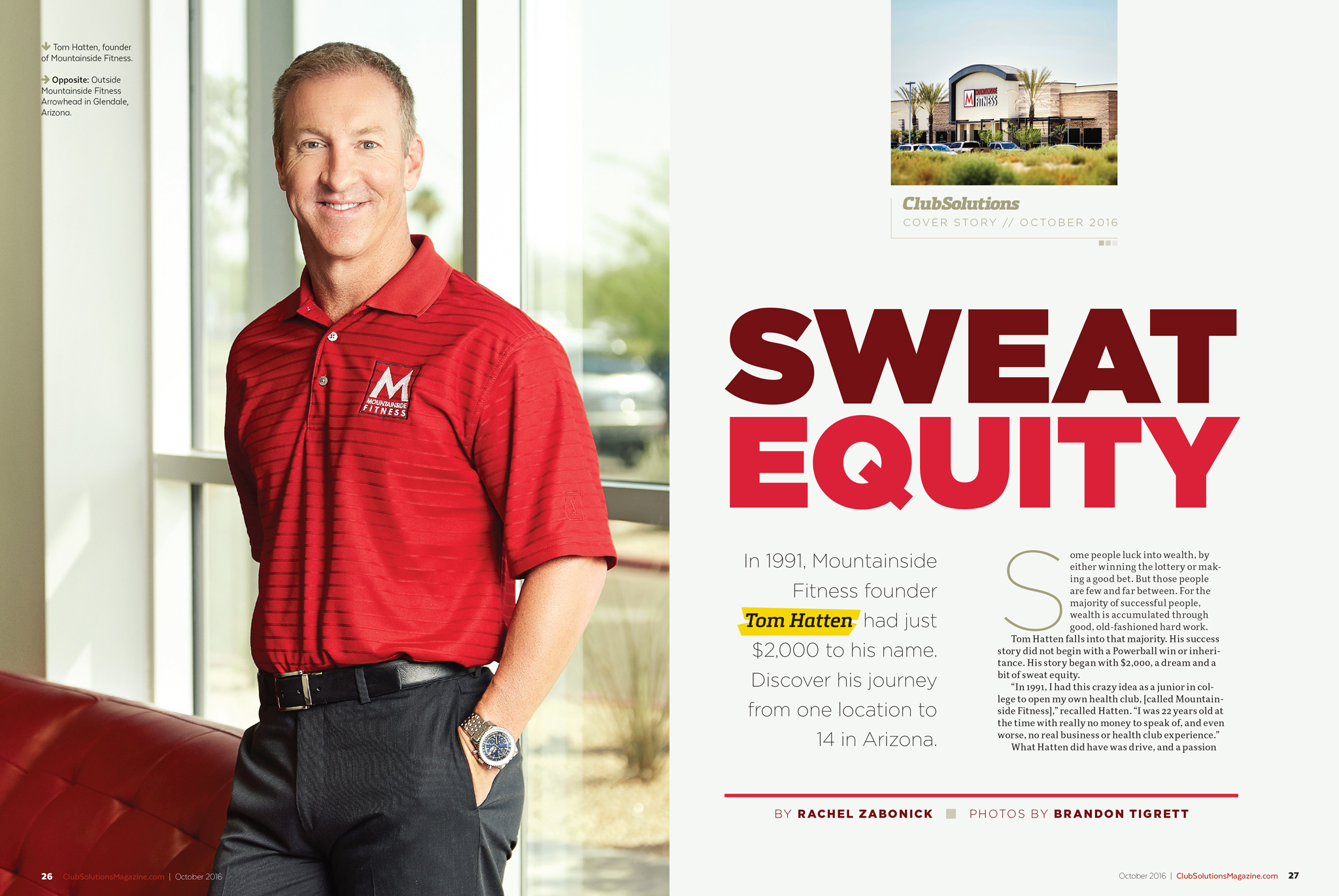 Club Solutions Magazine - Mountainside Fitness Tom Hatten