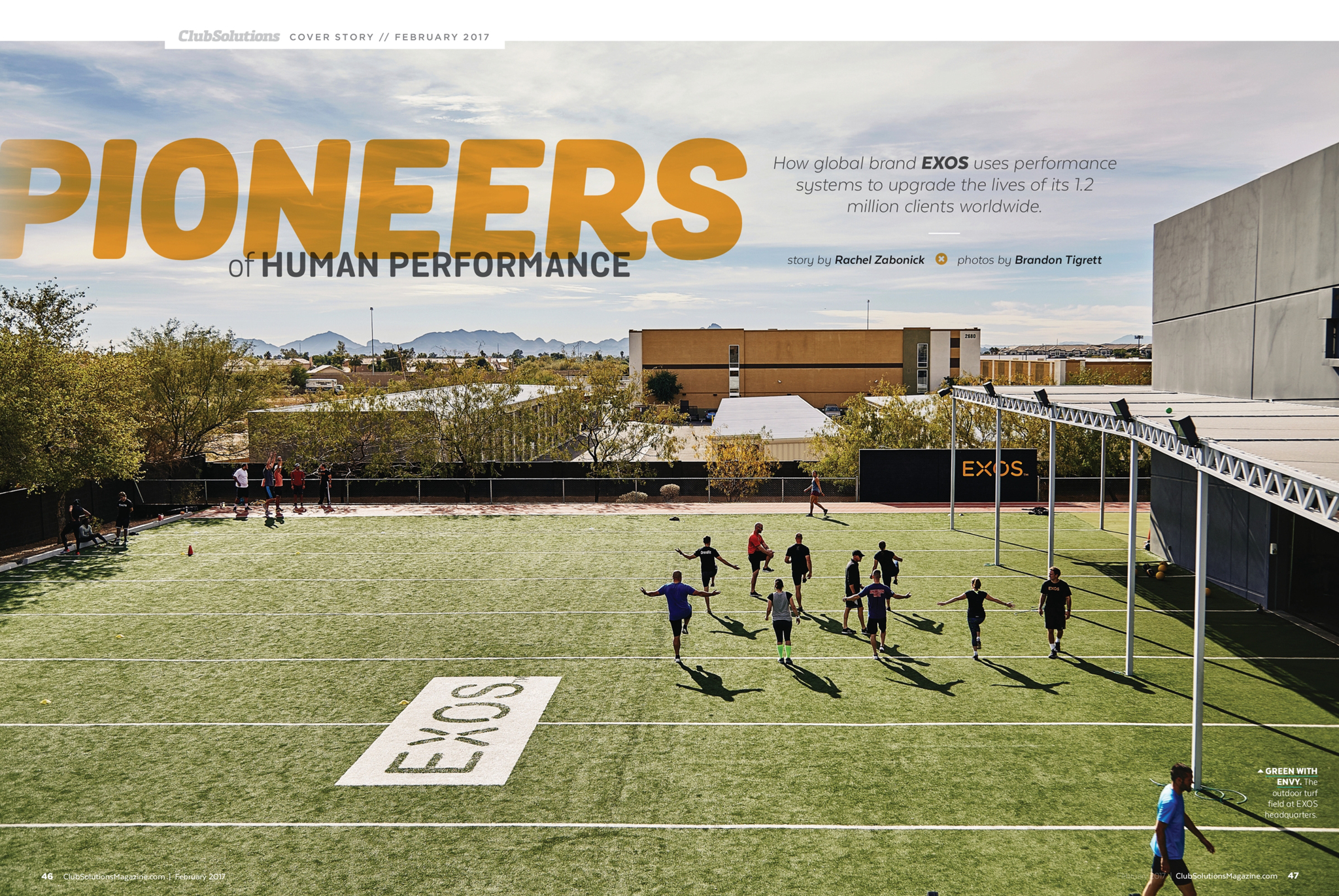 Club Solutions Magazine Feature Story - EXOS