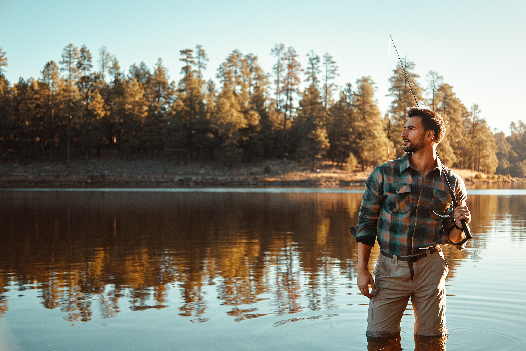 Phoenix Commercial Portrait Photographer - Fisherman Outdoor Lifestyle Photos