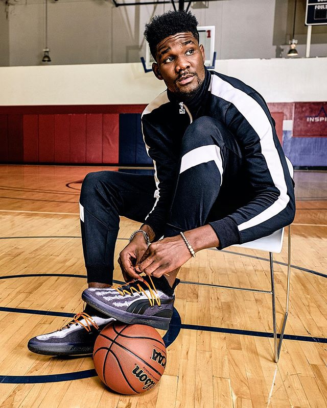 Some more of the work I shot for @pumahoops @puma and @champssports last year. Featuring the man, @deandreayton rocking the Clyde Court X-Rays. @suns #pumahoops #phoenixsuns #puma #deandreayton #advertisingphotography #commercialphotographer