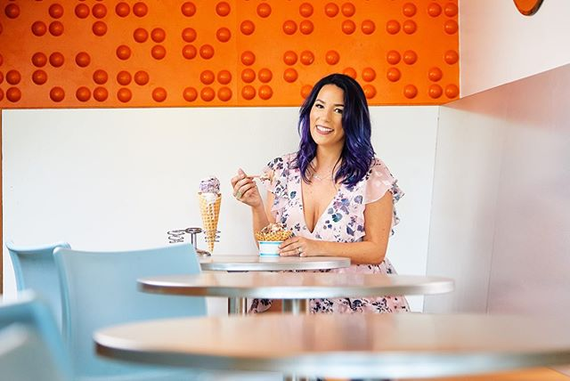 Just before it officially cools down in AZ let's throw it back to warm summer vibes and ice cream parlors.  Really fun shoot with @azfoodie for a feature in Valley Guide Magazine.  Don't we all wish we could get paid to sample ice cream.  #editorialportrait #summervibes #environmentalportrait #azfoodie