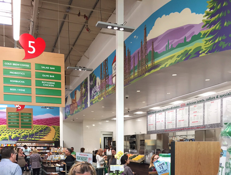 photo showing wall mural vector landscape illustration