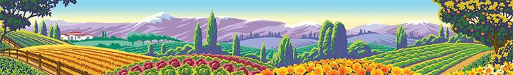 landscape illustration by vector illustrator Gary Bullock