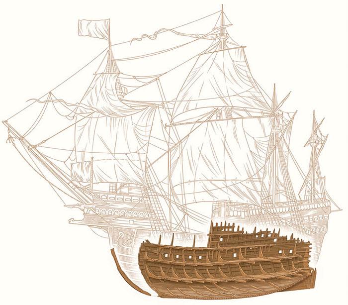 illustration of a tall-ship