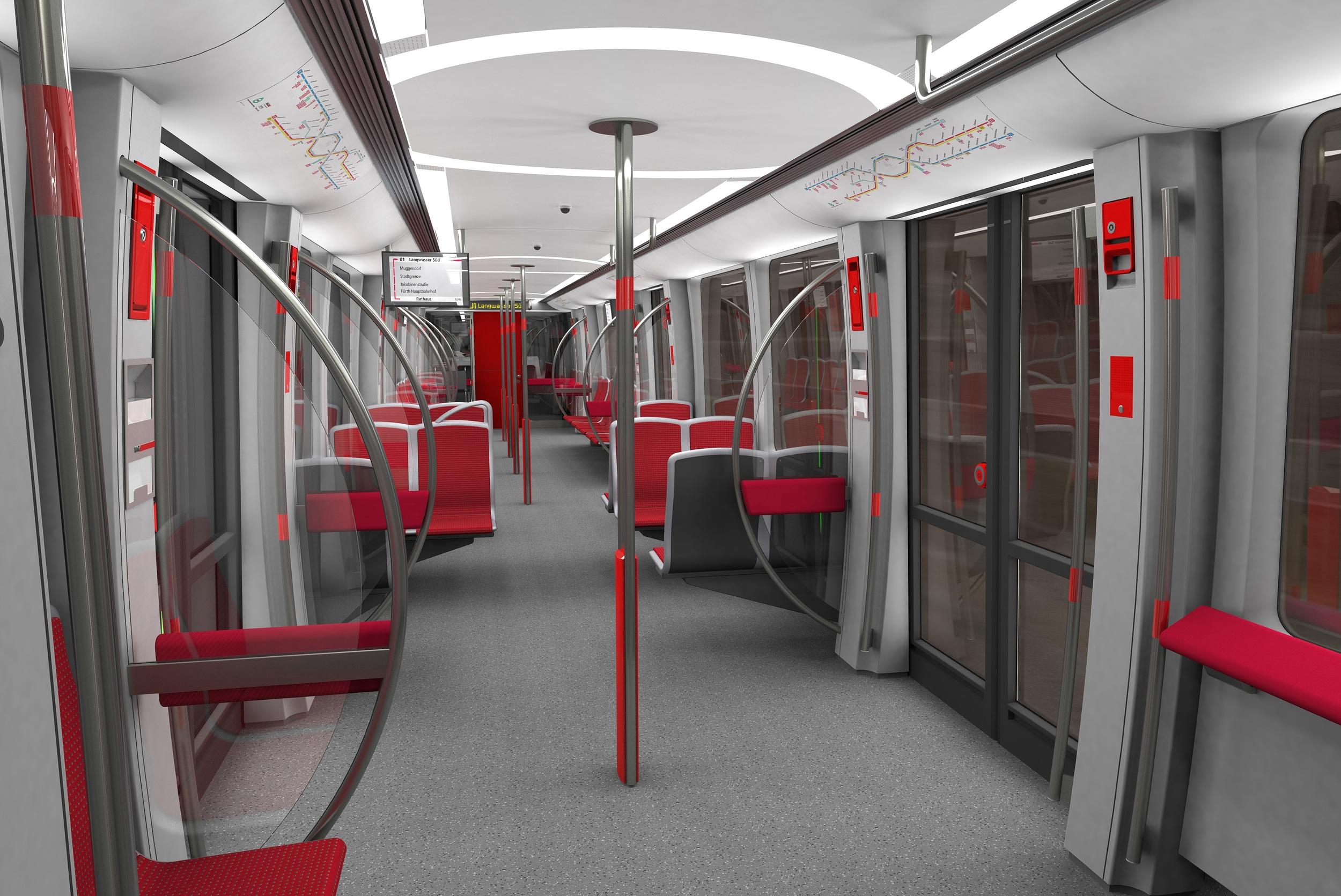 Dodávky metra G1 pro Norimberk by měly být dokončeny v polovině roku 2018. Celkem si dopravce VAG objednal 21 čtyřvozových vlaků. (zdroj: Siemens AG, ergon3design)