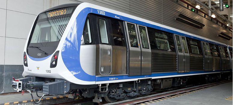 Pohled na jednotku CAF bukurešťského metra. (foto: CAF)