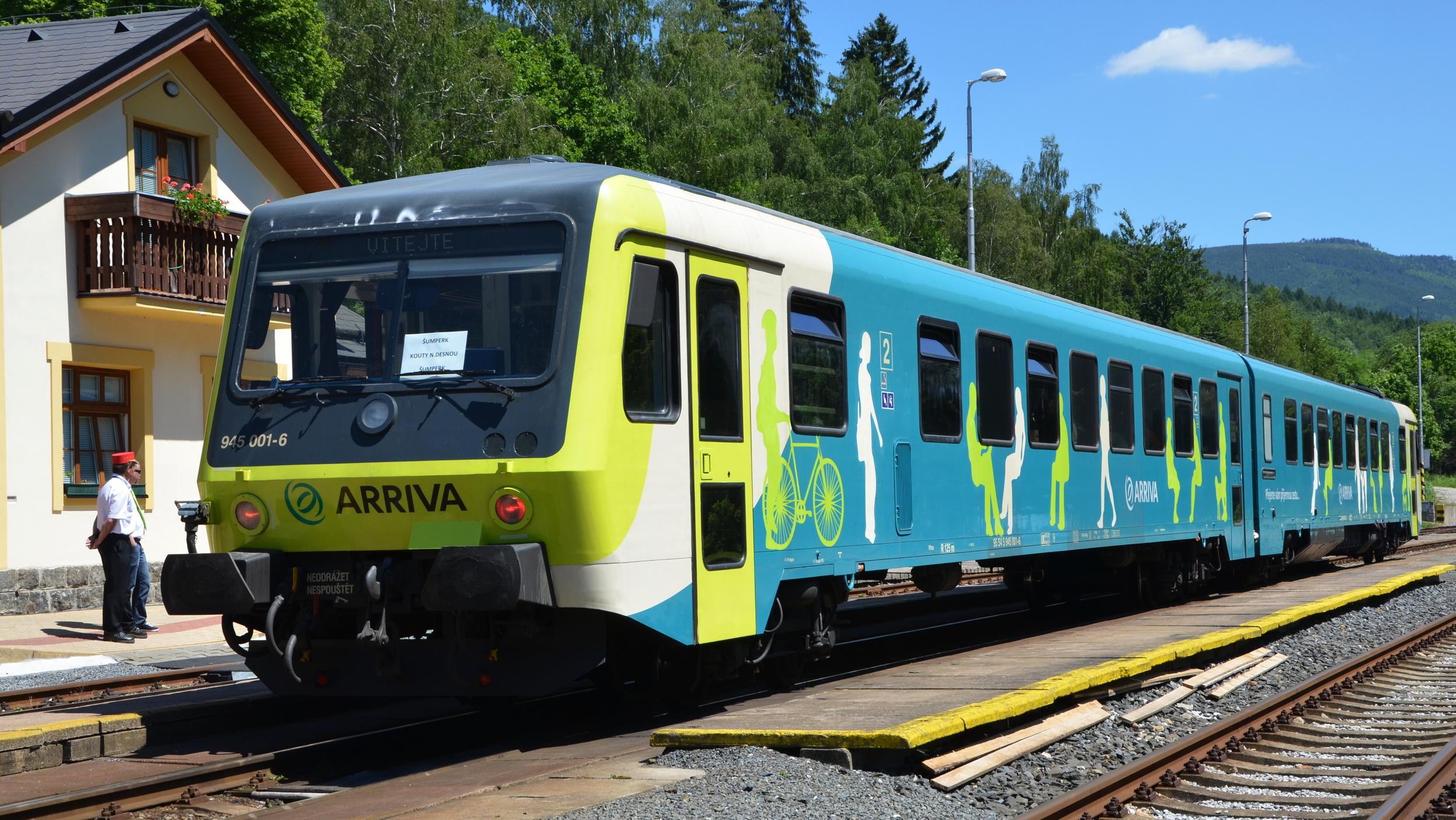 Jednotka řady 845 dopravce Arriva. (foto: Arriva)