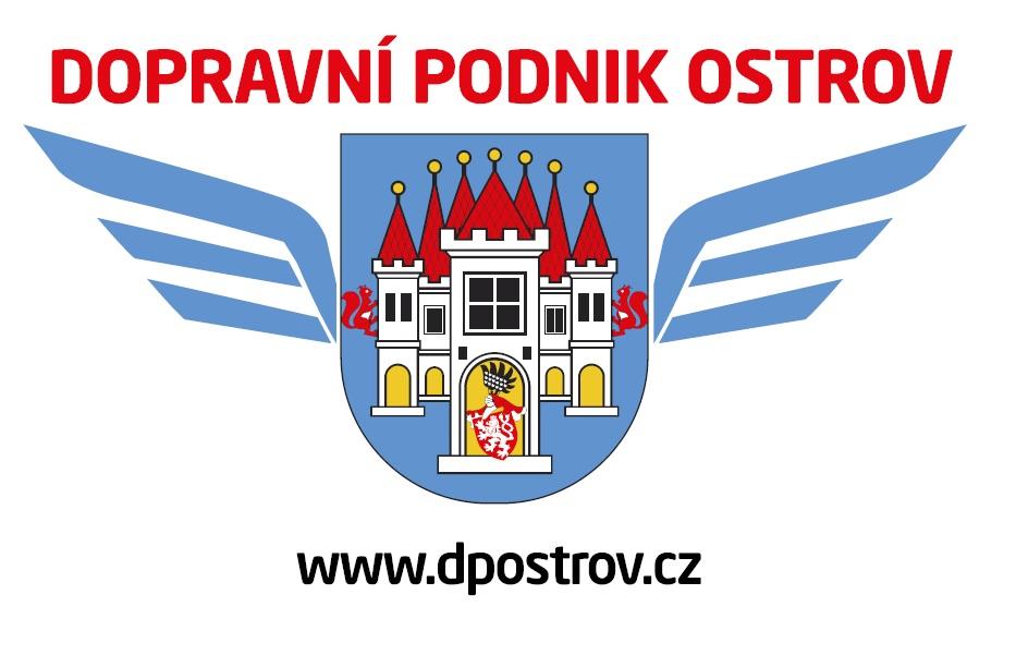 Nový znak nového dopravce MHD v Ostrově. (zdroj: www.ostrov.cz)
