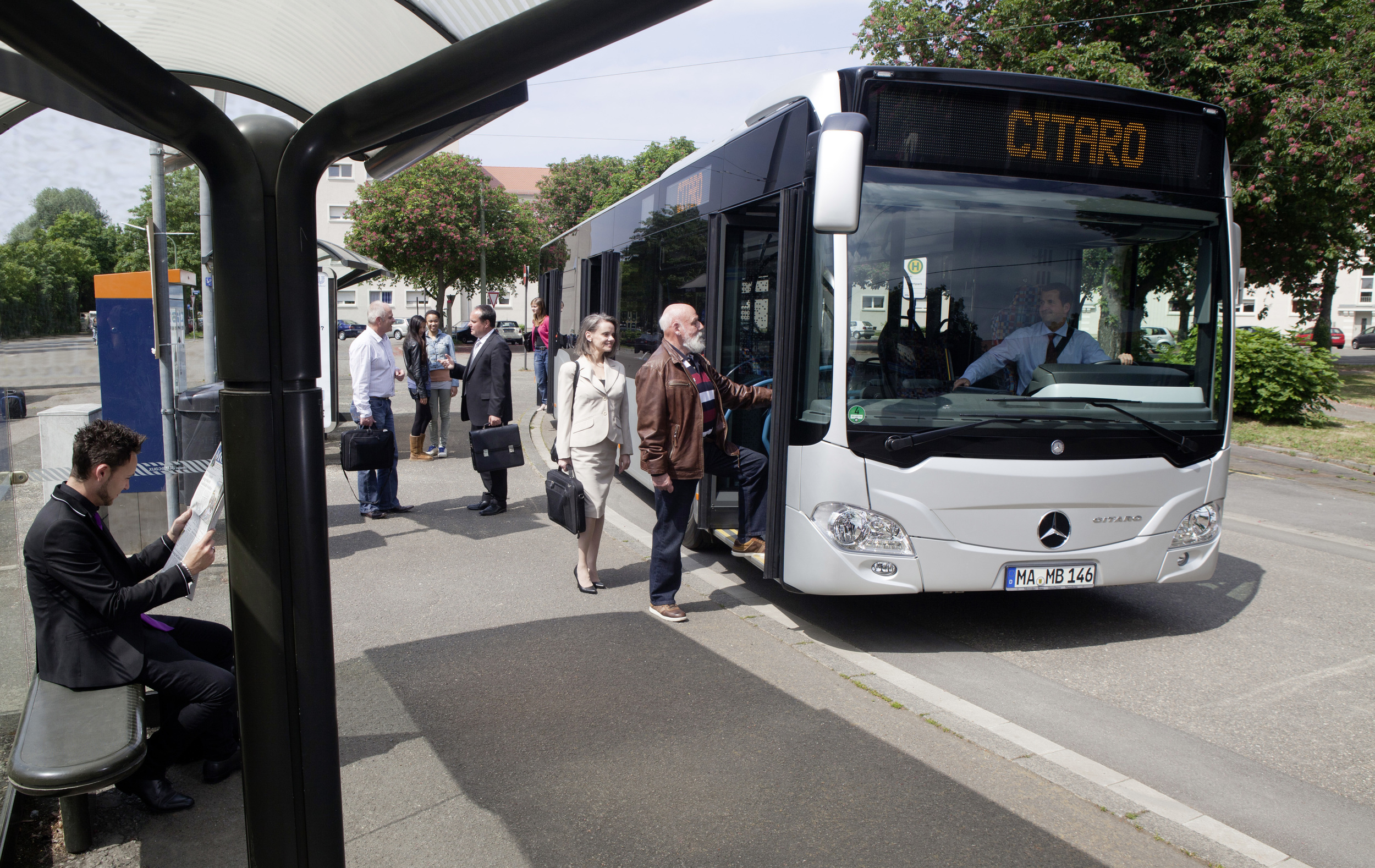 Mercedes-Benz Citaro na ilustračním snímku výrobce. (foto: EvoBus)