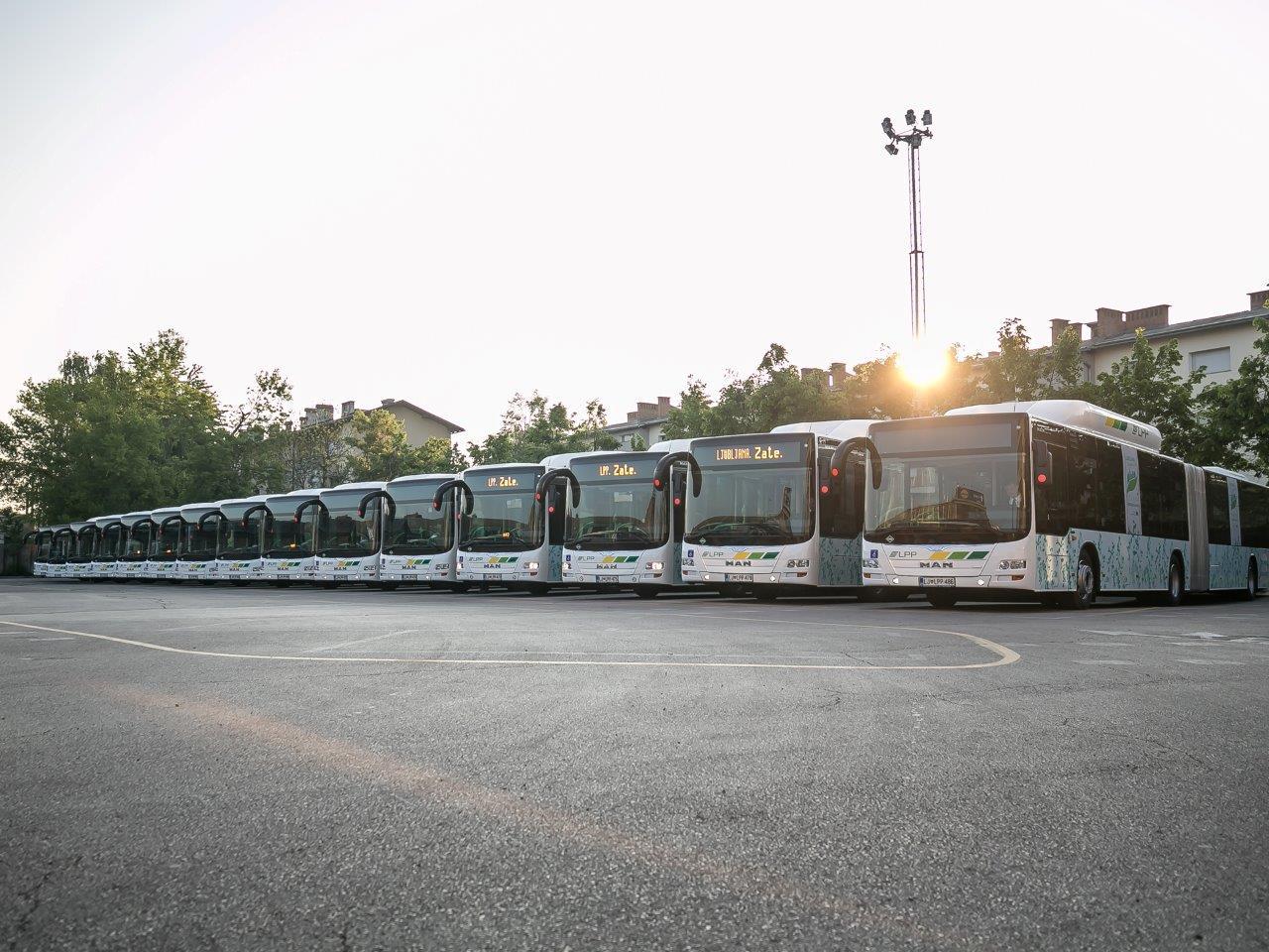 Flotila nových autobusů MAN Lion's City G CNG pro Lublaň. (foto: MAN Truck & Bus)