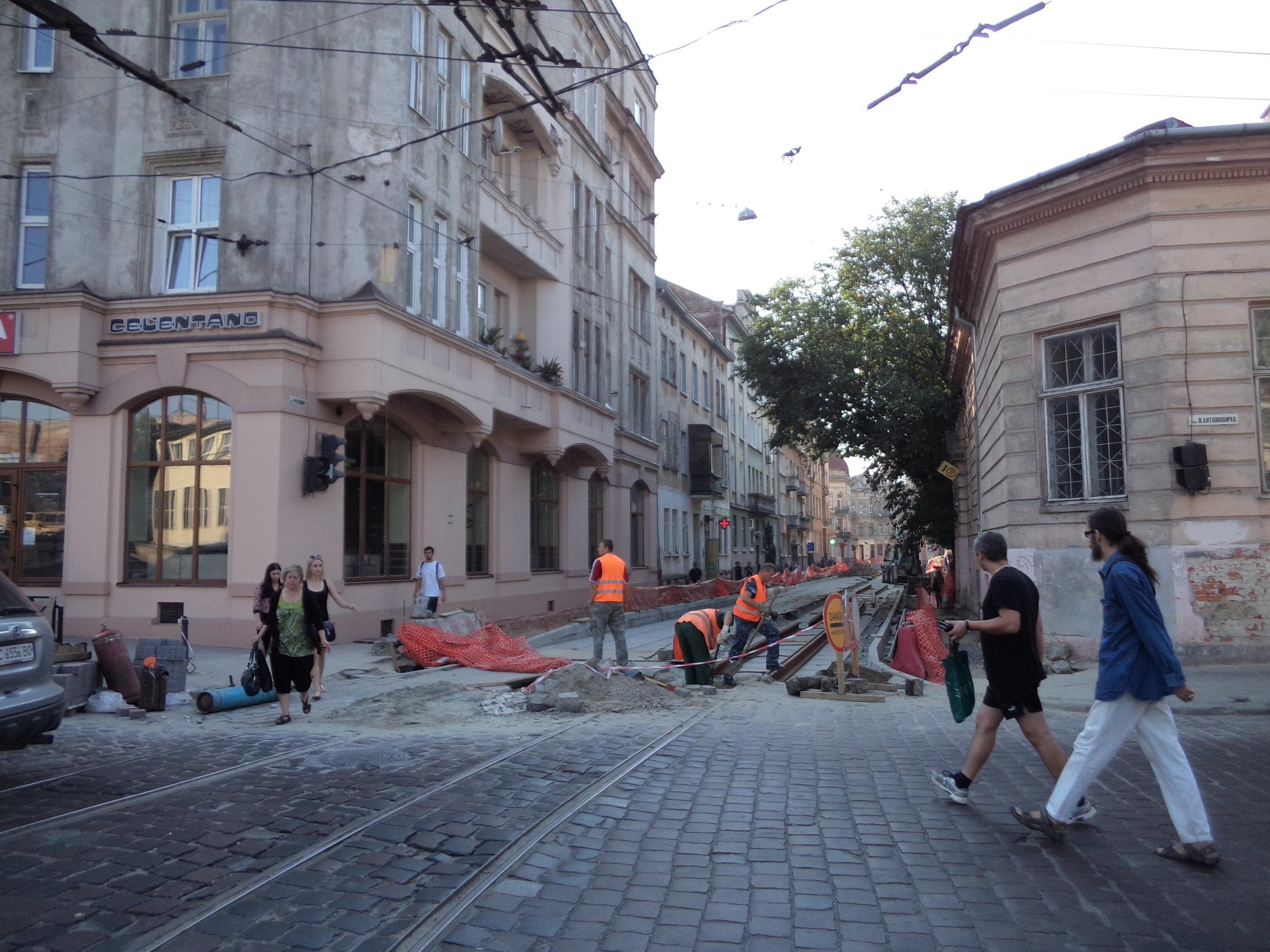 Ulice Rusovych.