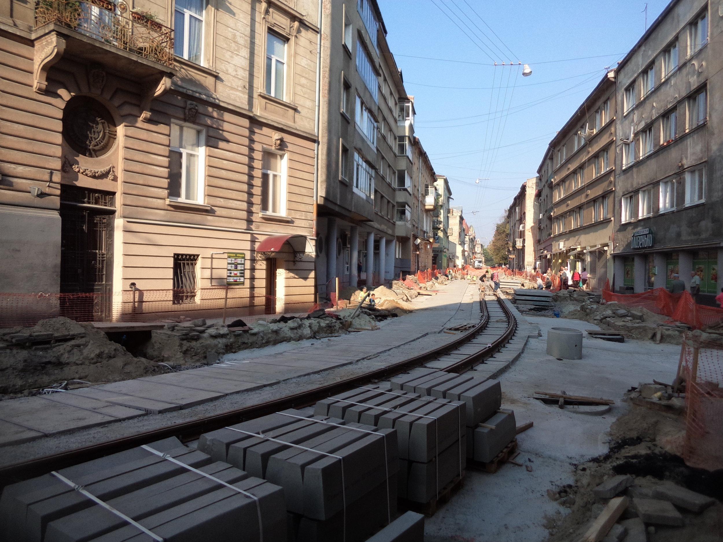 Ulice Kyivs  'ka ještě jednou.