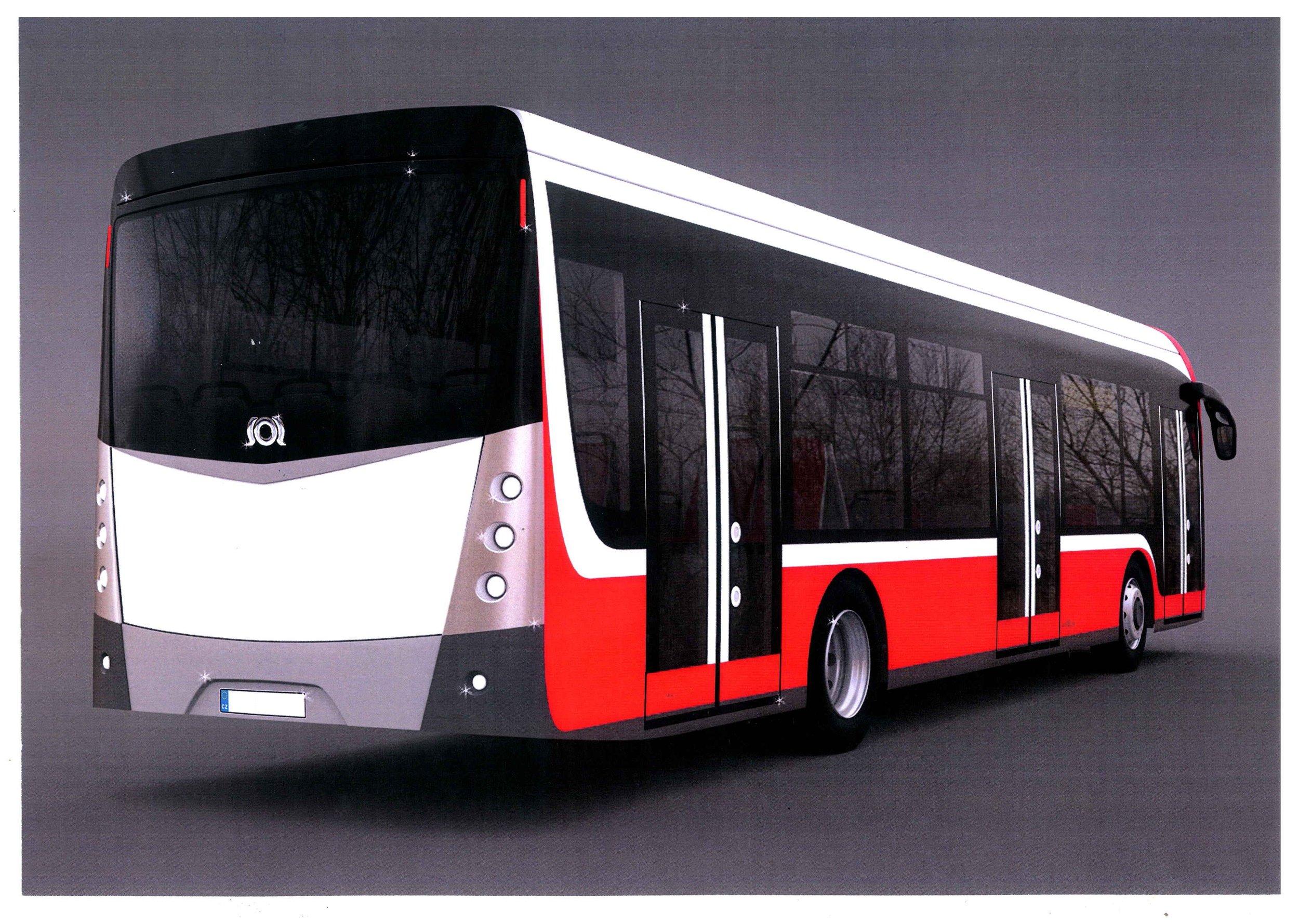 Zadní pohled na nový elektrobus. (zdroj: SOR)