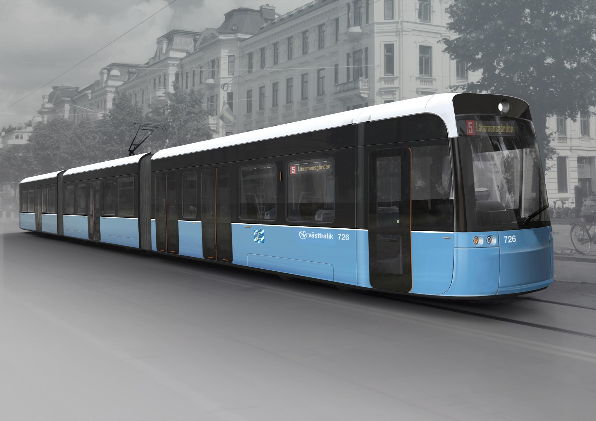 Nové tramvaje typu M33 pro Göteborg. (foto: Bombardier)