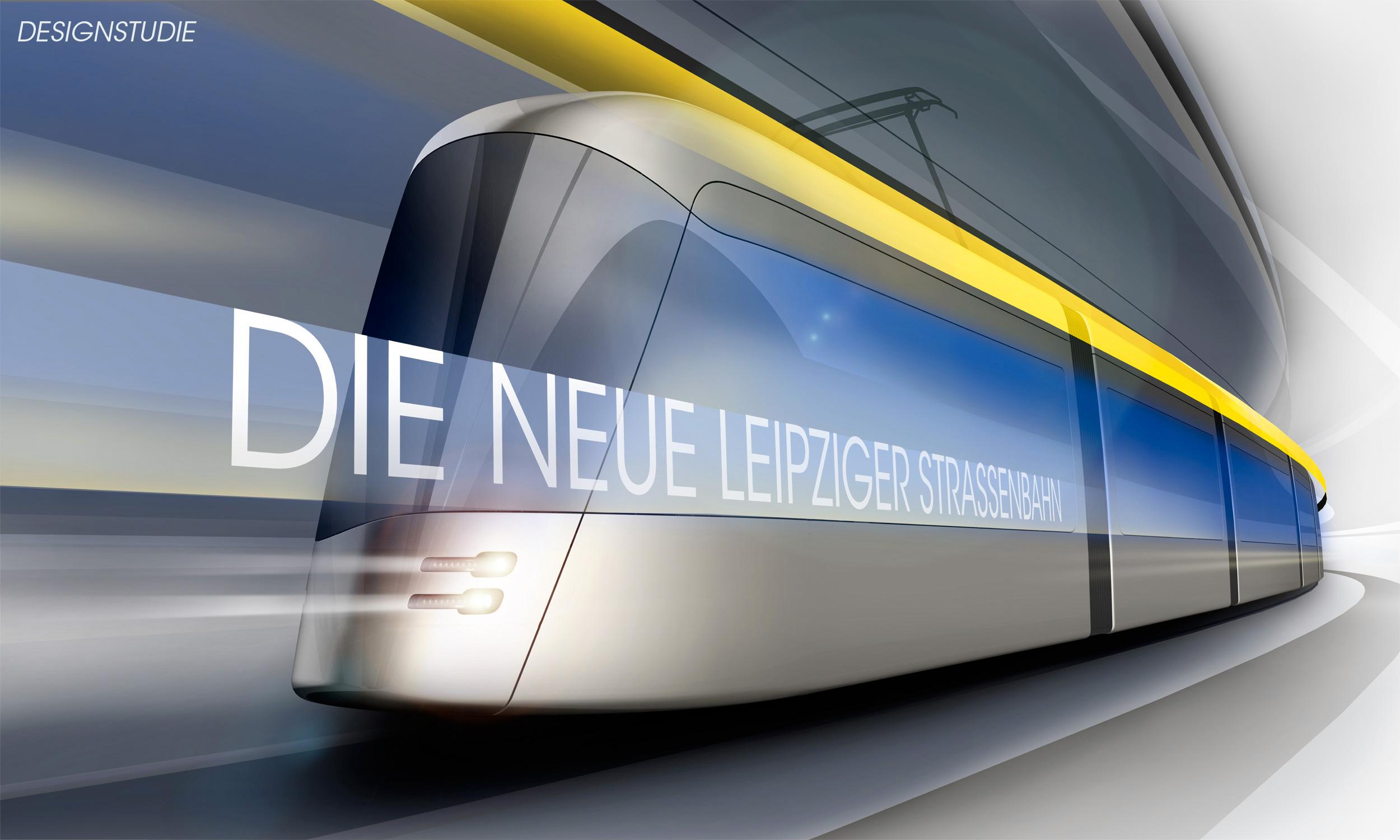 Dosud jediná oficiálně uvolněná vizualizace nové tramvaje pro Lipsko. (zdroj: Solaris Bus & Coach)