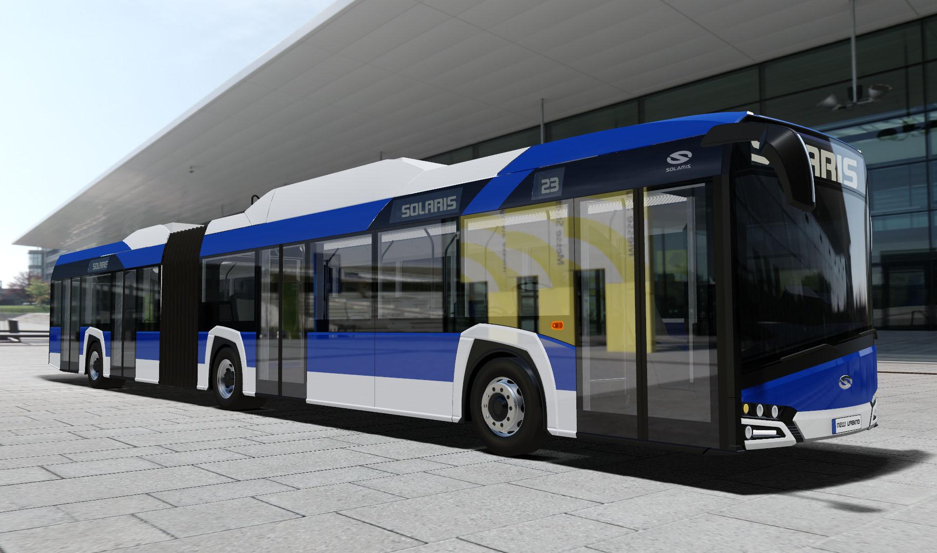 Vizualizace nového elektrobusu pro Kraków. (zdroj: Solaris Bus & Coach)