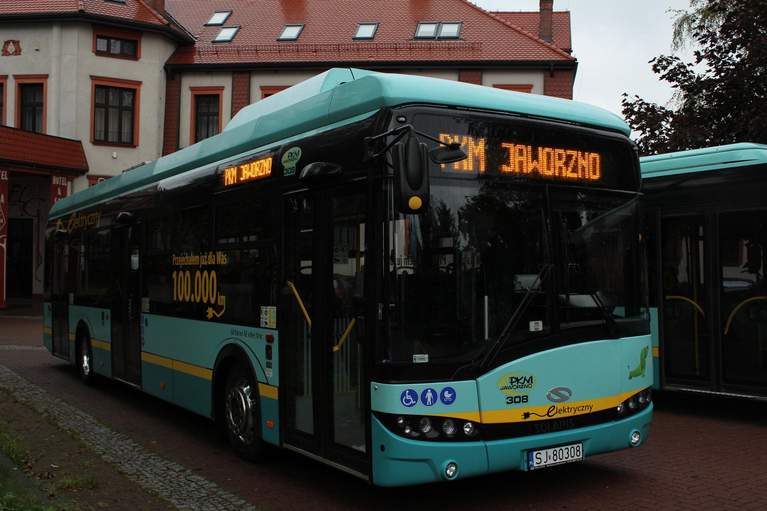 První elektrobus v Jaworzně najel od jara již 100 000 km. (zdroj: Solaris Bus & Coach)