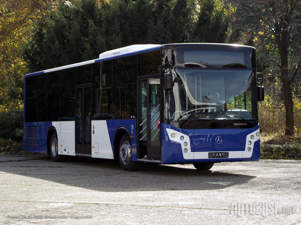 50. vyrobený autobus IK-112LE na podvozku Mercedes-Benz. (foto:Aleksandar Dragutinović/Autobusi.net)