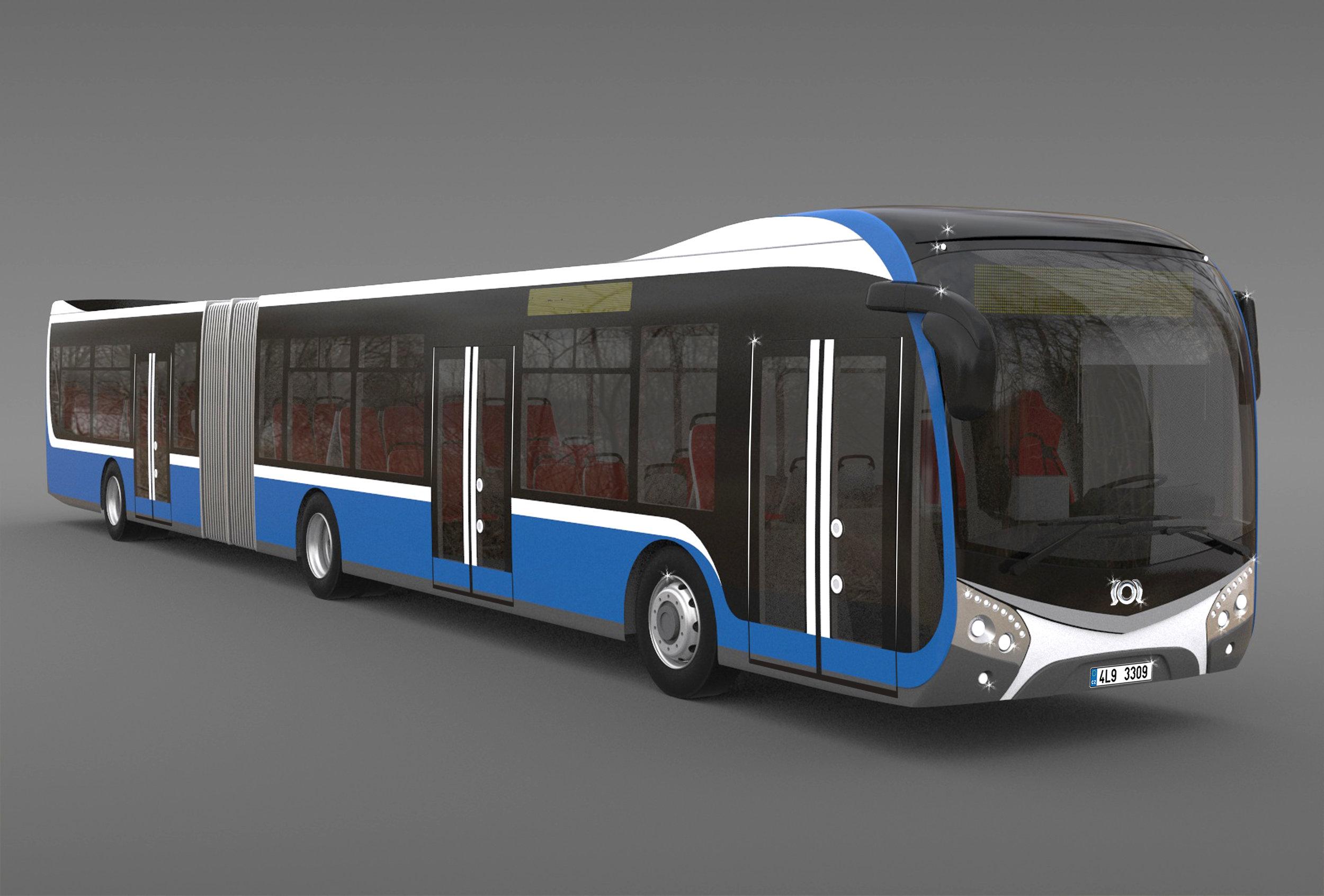 Návrh dieselového autobusu novékoncepce od SORu. (zdroj: SOR Libchavy)