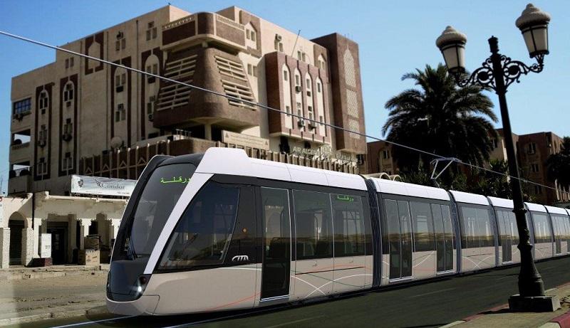 Vizualizace tramvaje Citadis v ulicích města Ouargla v Alžísku. (zdroj: Alstom)