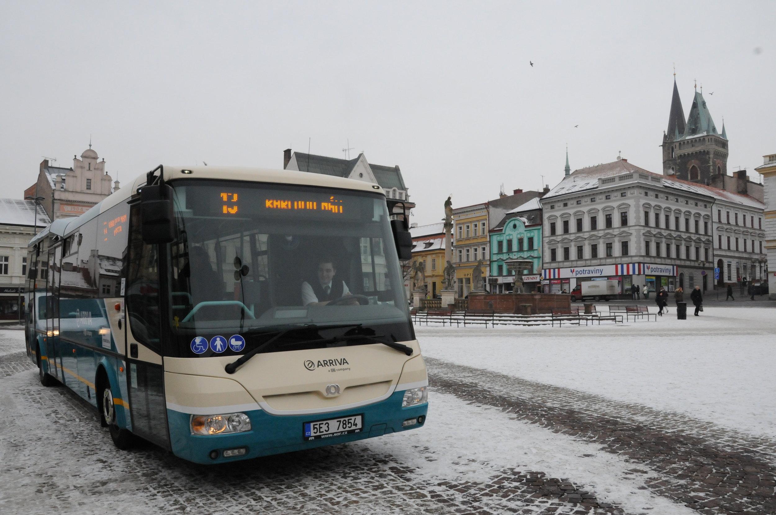 Autobus SOR společnosti Arriva v Kolíně. (foto: Městský úřad Kolín)