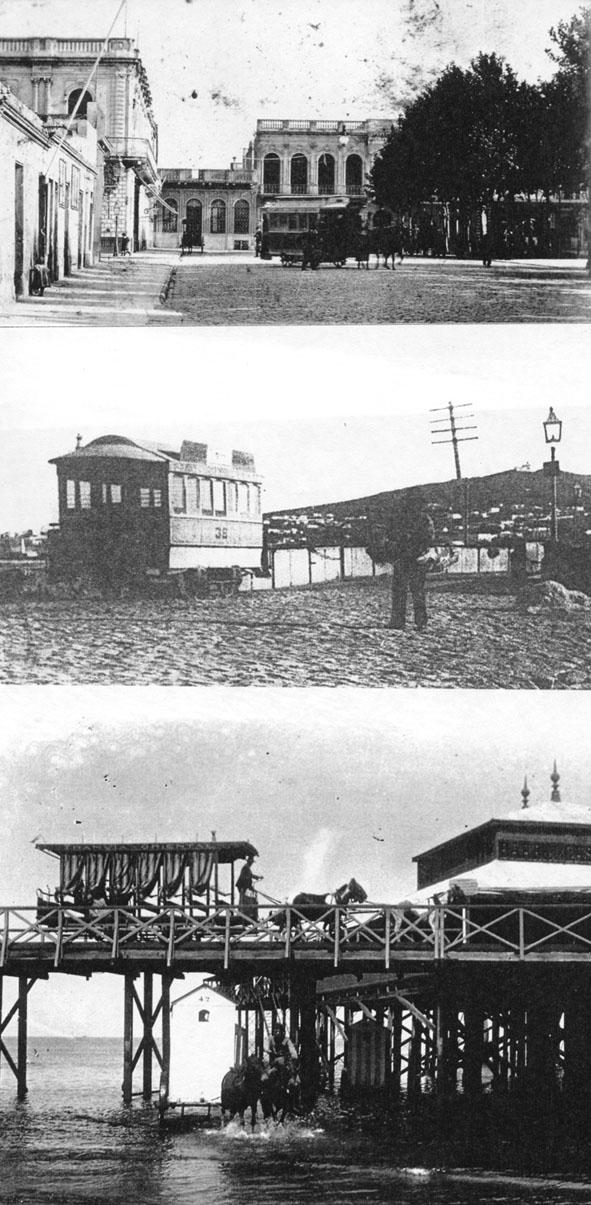 Několik snímků z provozu koňských tramvají. (zdroj: archiv Marcelo Benoit)