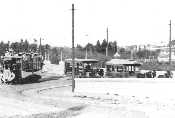 V červnu 1907 zahajovaly provoz elektrické tramvaje La Transatlánticy. (zdroj: archiv Marcelo Benoit)