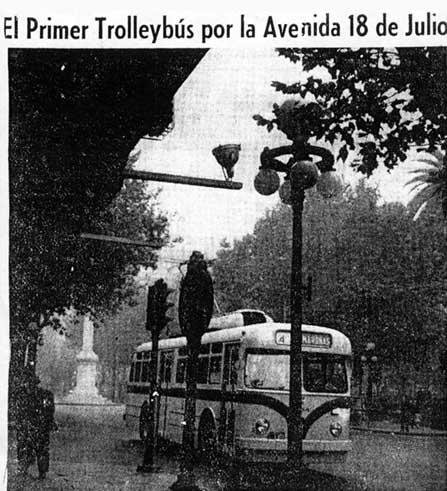 Linka č. 4 jako první okusila třídu 18 de Julio. (zdroj: archiv Marcelo Benoit)