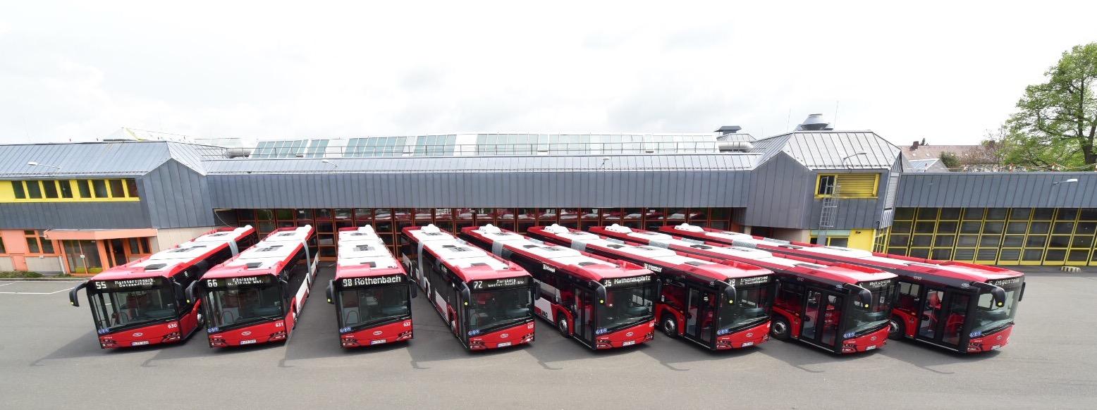 Nové autobusy v Norimberku. (foto: Solaris Bus & Coach)