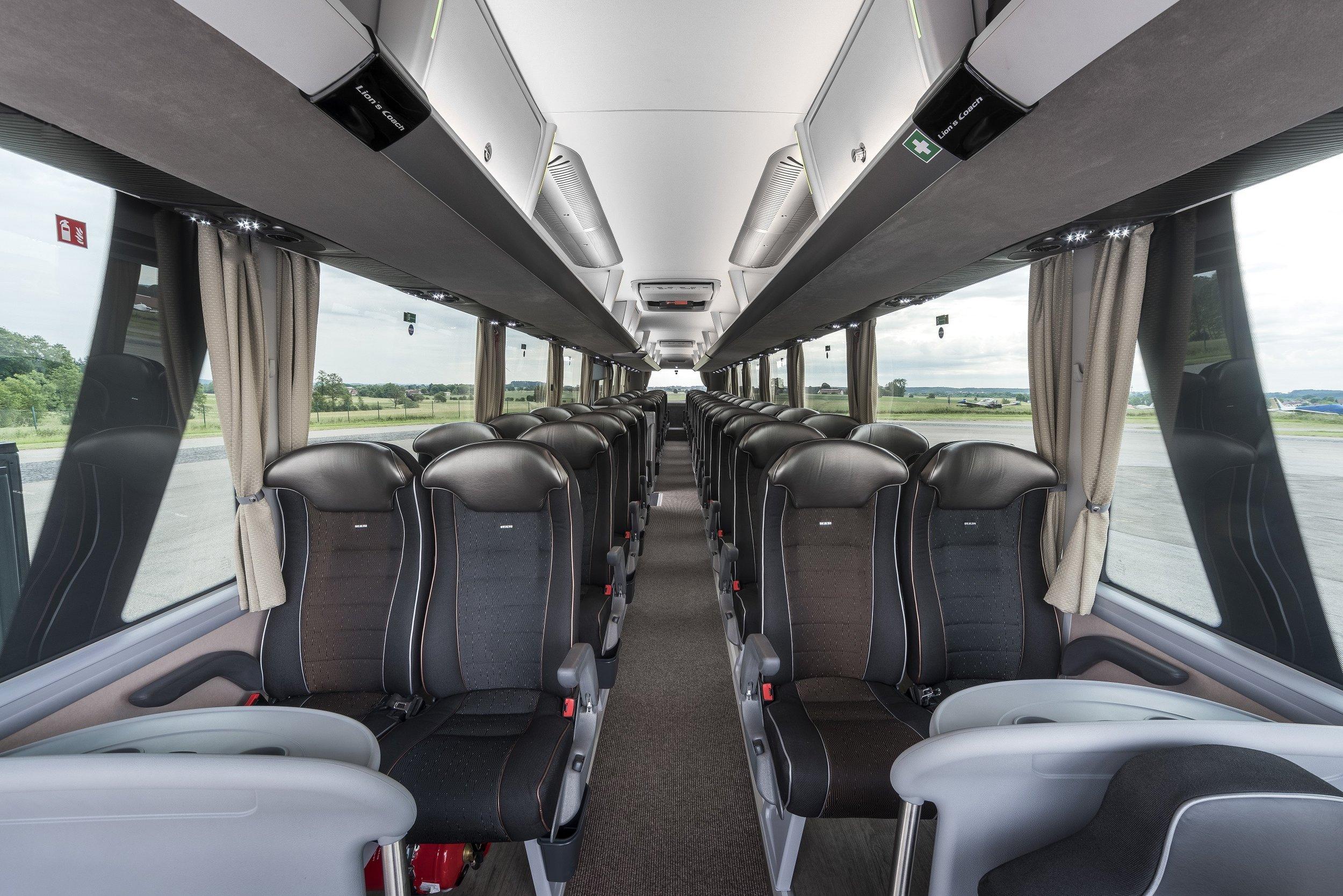 Pohled do interiéru nového MAN Lion's Coach. (foto: MAN Truck & Bus)