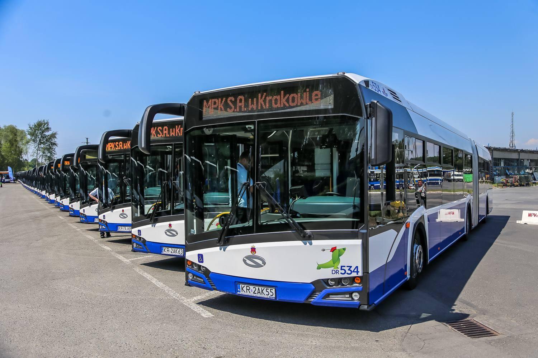 Všech 77 autobusů bylo dodáno v provedení Nového Urbina. (foto: MPK Kraków)