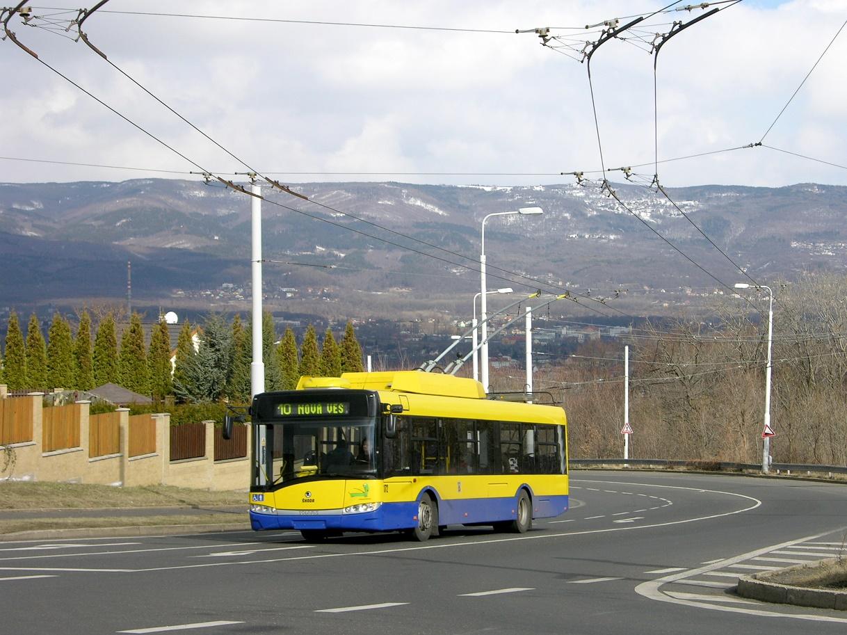 Trolejbusy Škoda 26 Tr s karoserií Solaris se staly v ČR velmi populární. Na snímku vidíme jeden z teplických vozů. (zdroj: Wikipedia.cz)