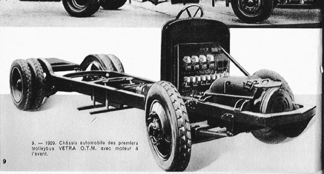 Podvozek MV pro trolejbus O.T.M. 1. (foto: katalog Vetry z roku 1933 / archiv ČsD)