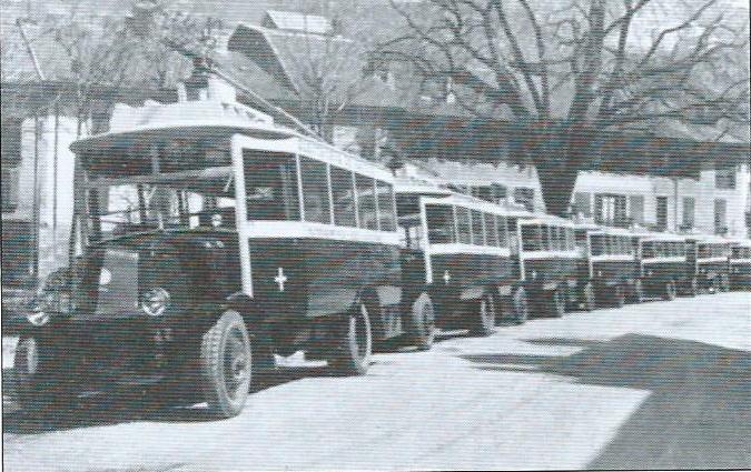 Dne 15. dubna 1930 proběhla prezentace 8 vozů typu O.T.S.M. určených pro trať Moûtiers – Brides-les-Bains – Le Villard-du-Planay (foto: VETRA / archiv G. Mullera)