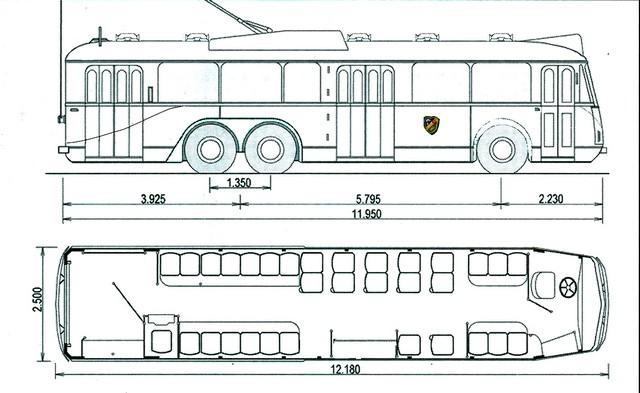 Nákres vozu typu VA3 pro RSTA. (zdroj: Jean Capolini / sbírka Rolanda le Corffa)