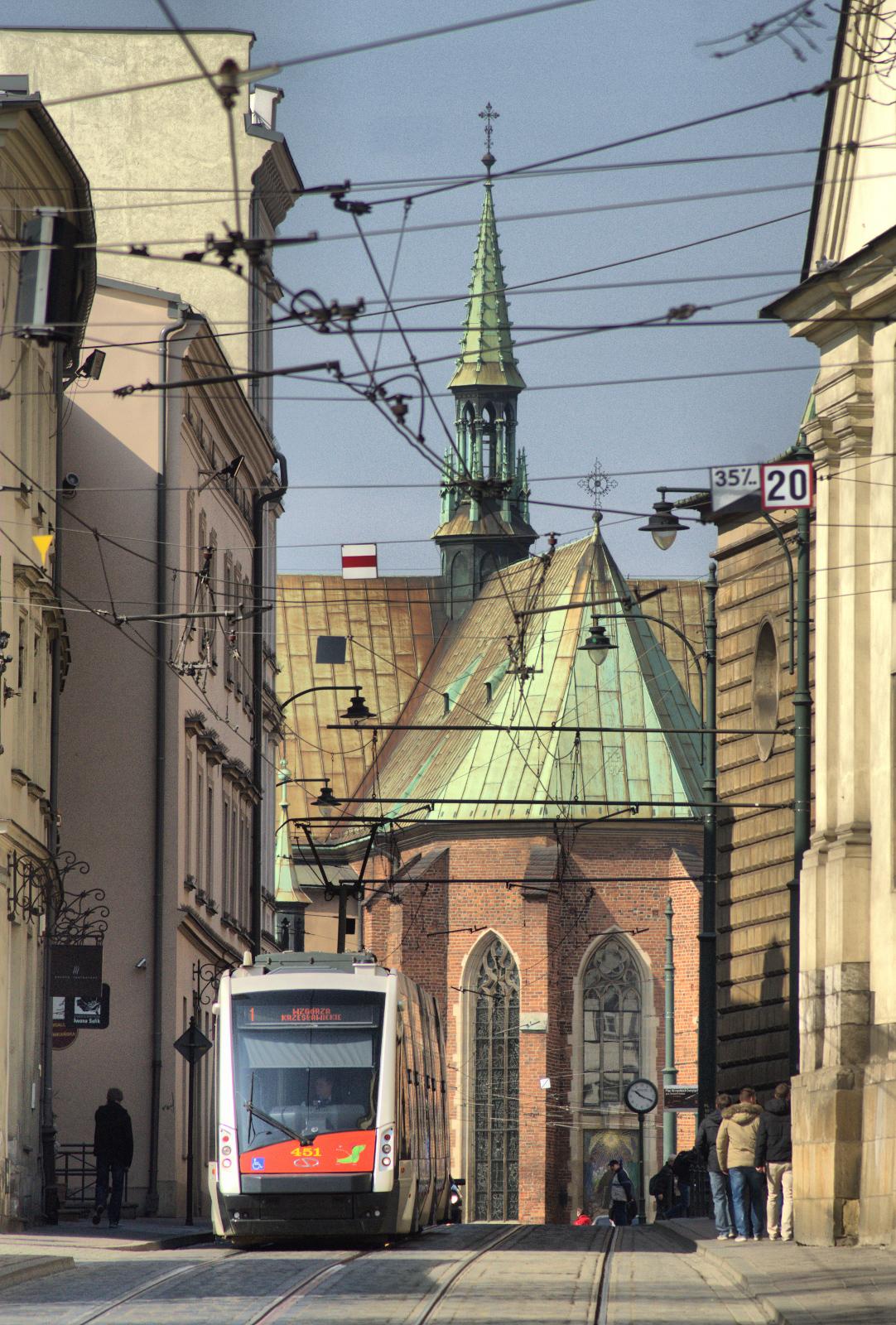 V Krakově byl v roce 2015 testován prototyp vozu Solaris Tramino, jenž je dnes provozován v Poznani. (foto: Solaris Bus & Coach)