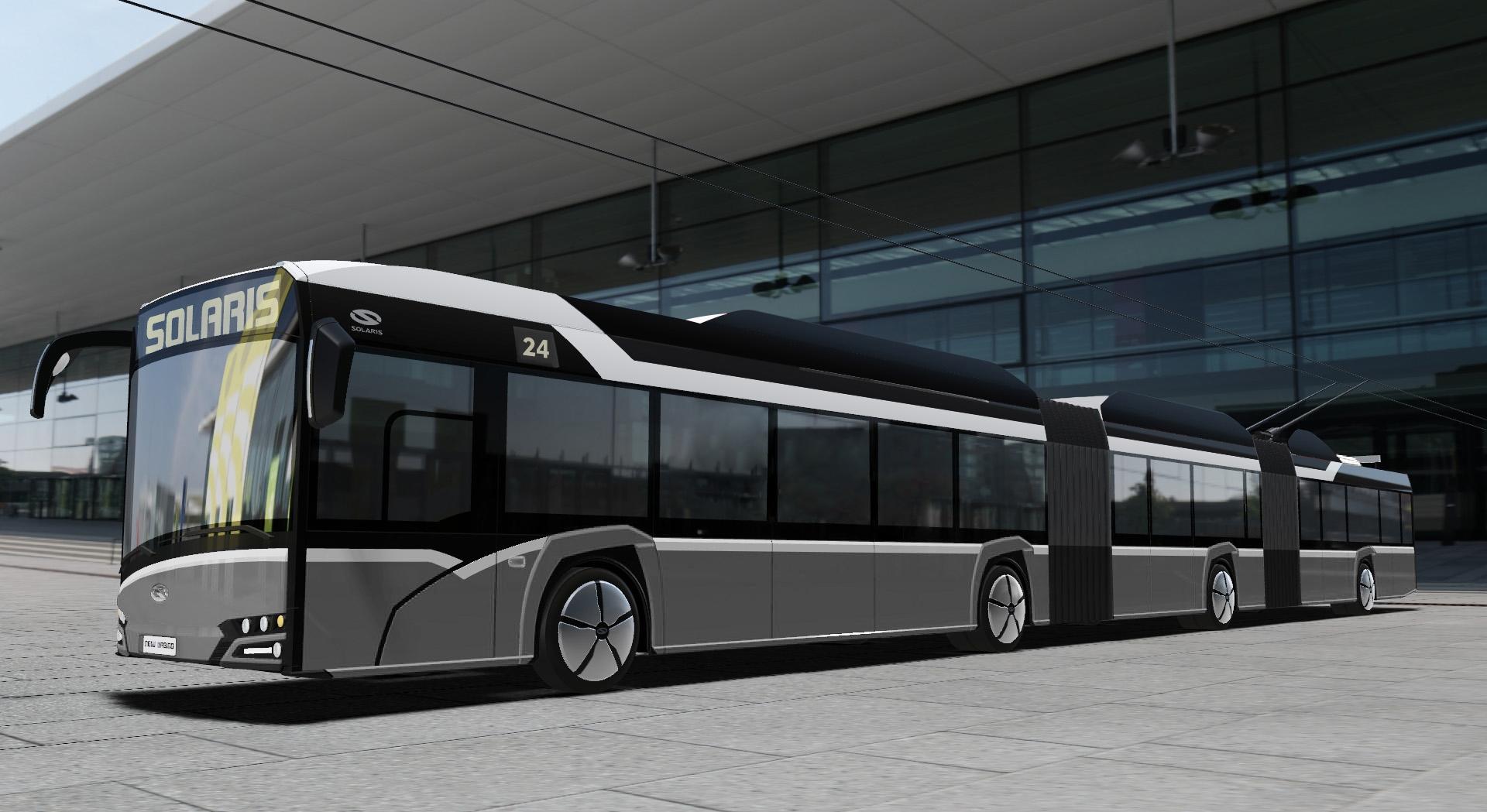 Pohled na vozidlo z levé strany. (zdroj: Solaris Bus & Coach)