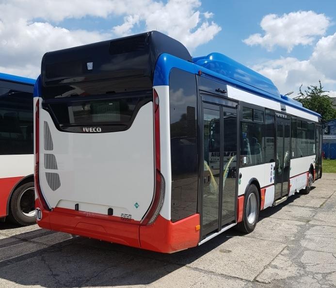 Do provozu má být v brzké době uvedeno také 10 vozů Urbanway 12m CNG (Urbanway Natural Power). (foto: ČSAD MHD Kladno)
