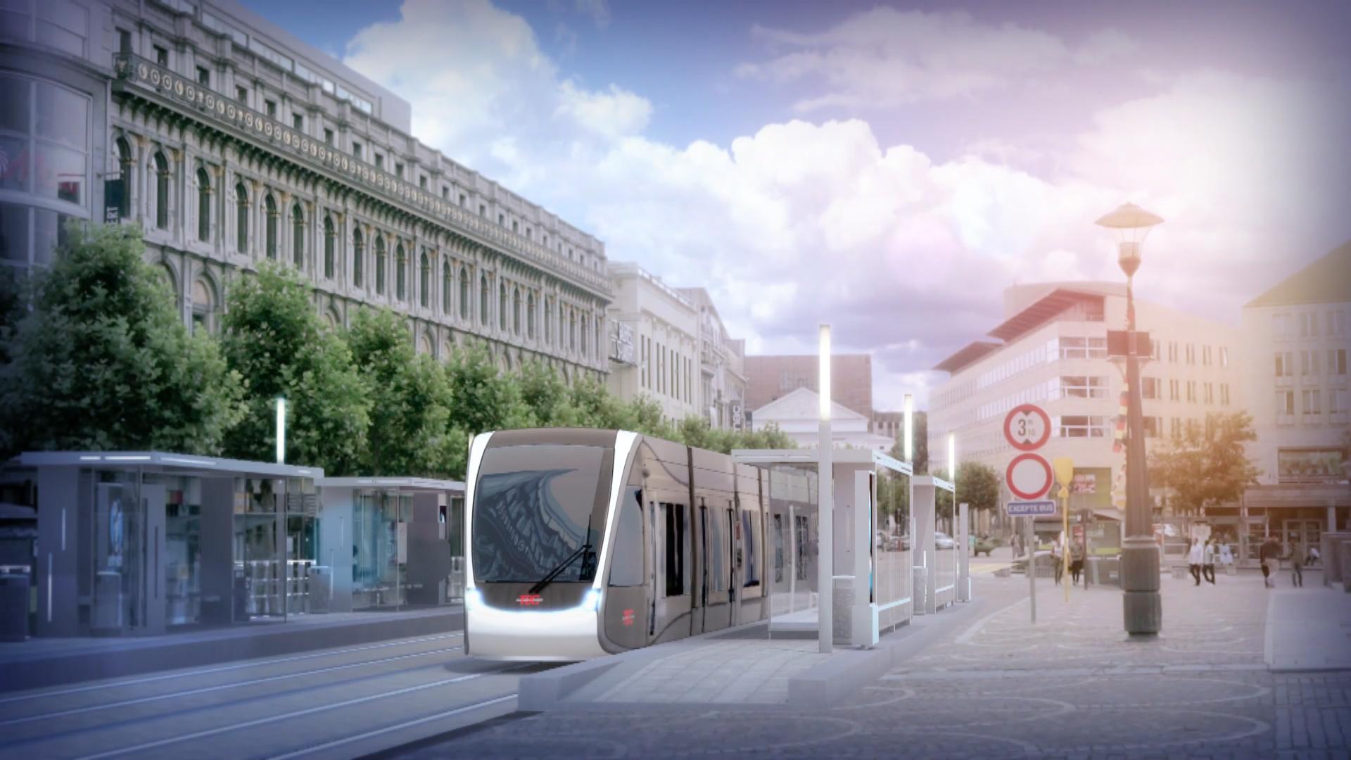 Vizualizace tramvaje v Lutychu. (zdroj: CAF)