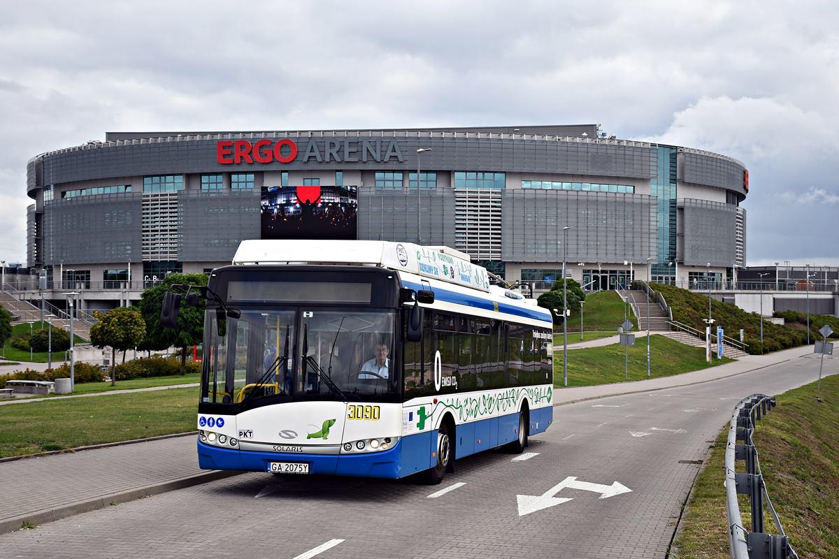V srpnu 2018 se nové spojení testovalo. (foto: Karol Grzonka / Przedsiębiorstwo Komunikacji Trolejbusowej Sp z o.o. w Gdyni)