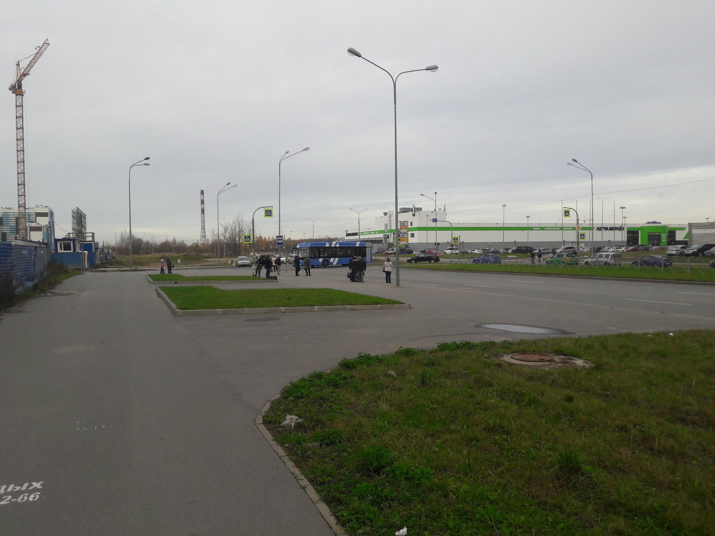 Až na konci světa aneb konečná linky č. 2 Glucharskaja ulica.