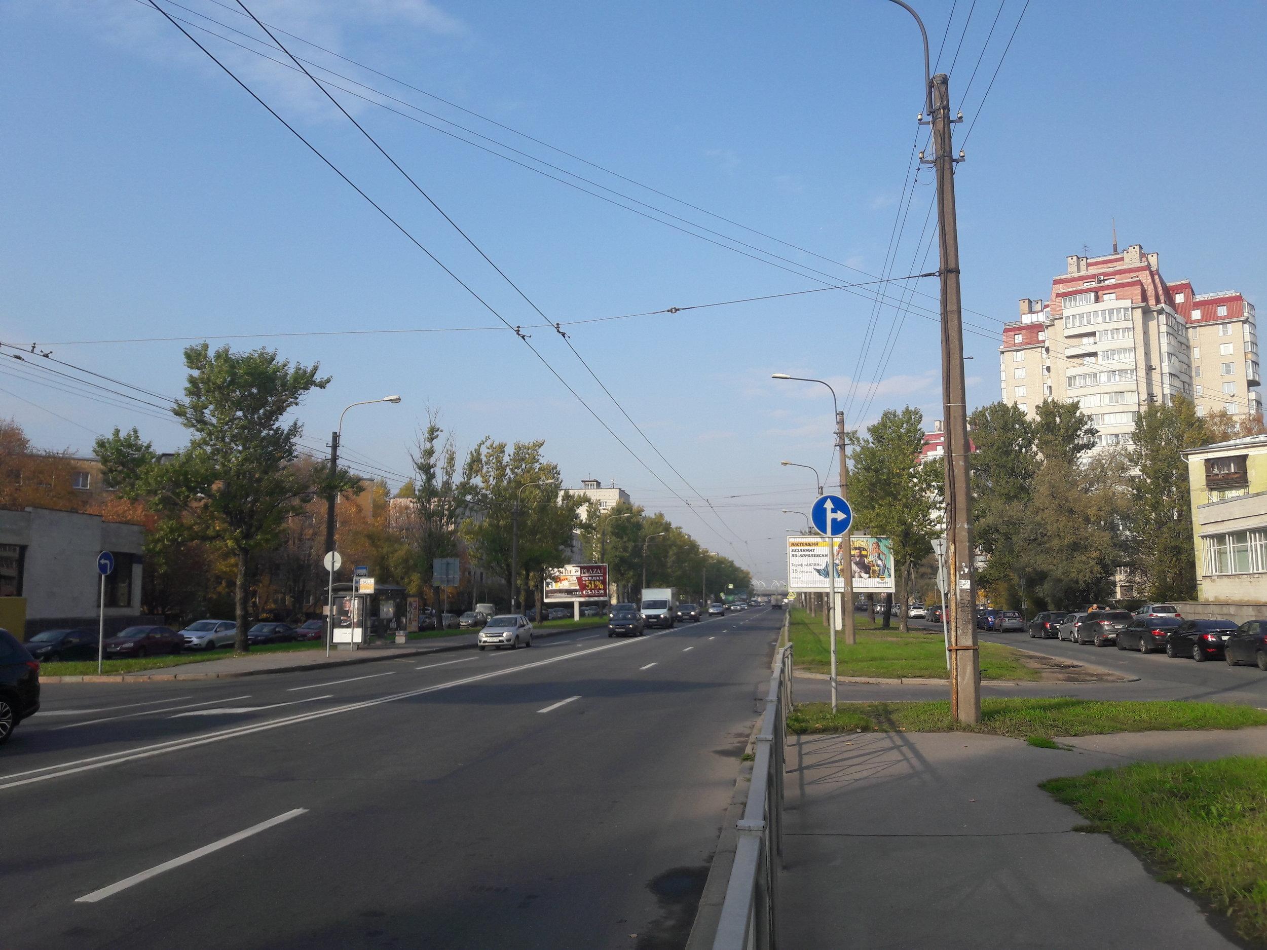 Jih města: dlouhá léta zrušený úsek od Ploščadi Konstituciji směrem na severozápad.