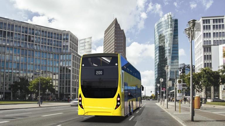 Vizualizace autobusu Enviro500 pro Berlín zezadu. (foto: Alexander Dennis)