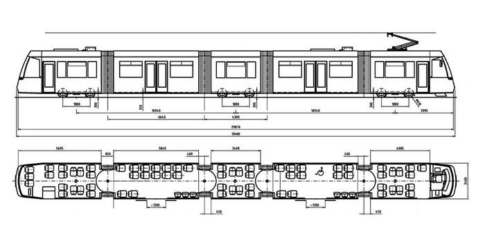 Čtyřdveřová verze modelu C-05. (zdroj: TRAM FOR ENVI s.r.o.)
