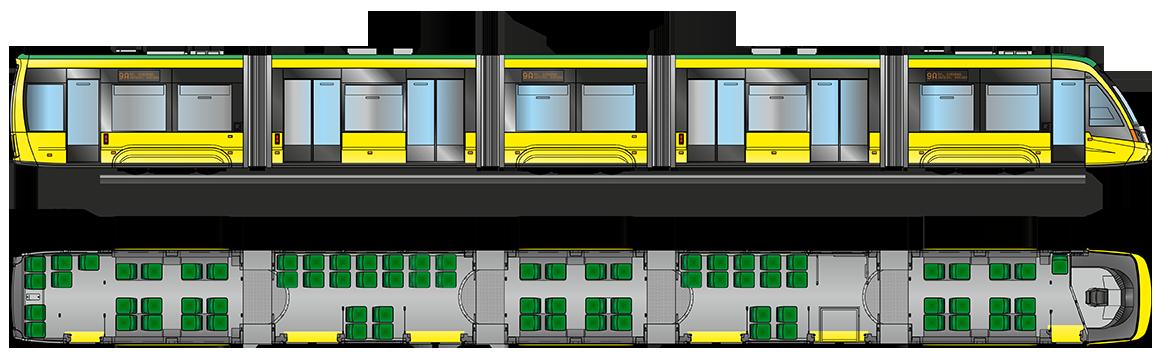 Vozidlo Elektronu T5B64. Nabízena je v tendru varianta T5B641, která už je v Kyjevě v provozu.