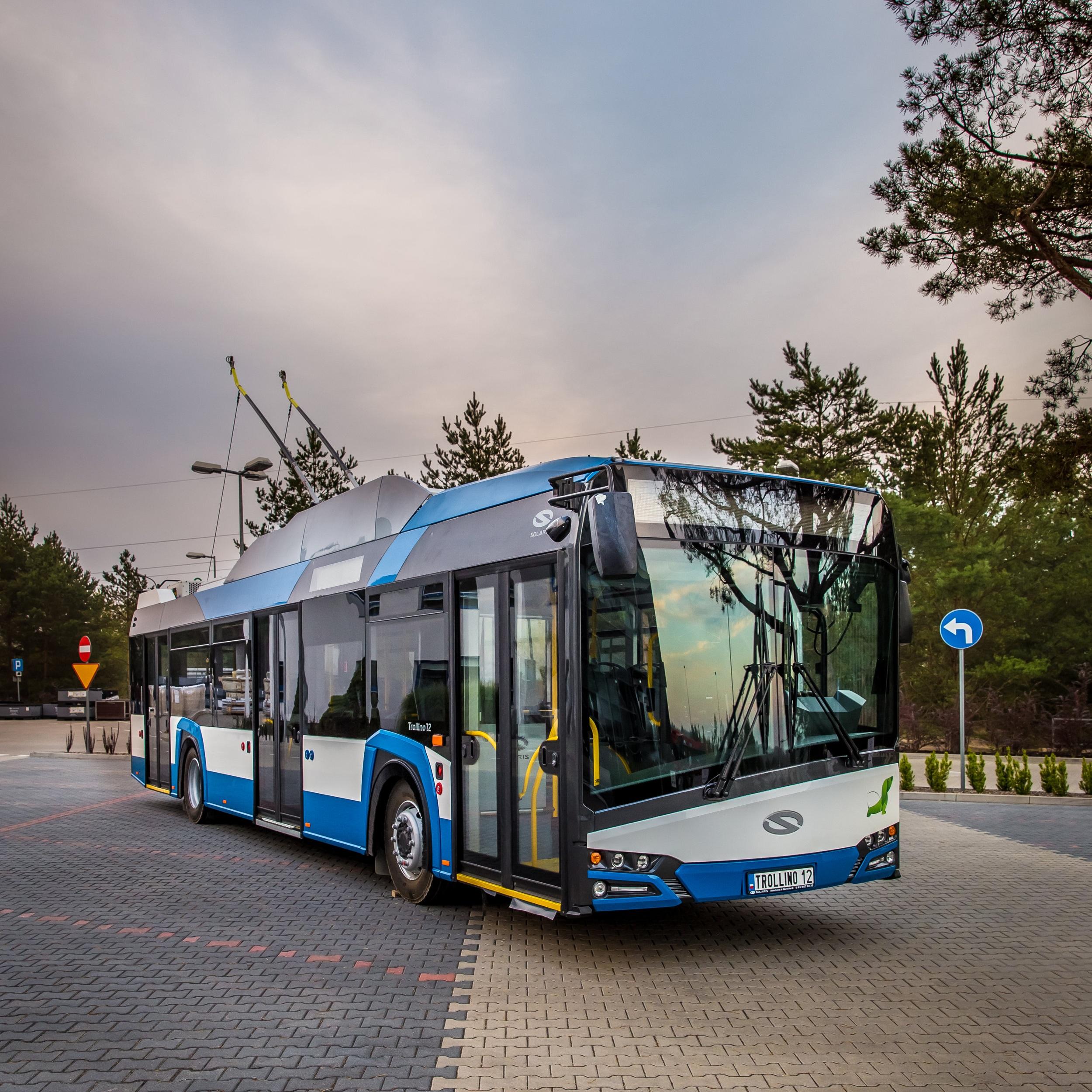 Trolejbus Solaris Trollino 12 na propagačním snímku výrobce. (foto: Solaris Bus & Coach)
