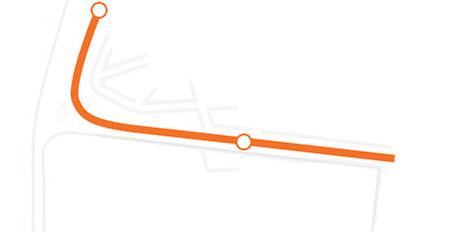 1 065 m dlouhá trať jihozápadně od centra již nefunguje. (foto: 2x Aeromóvel Brasil S.A.)