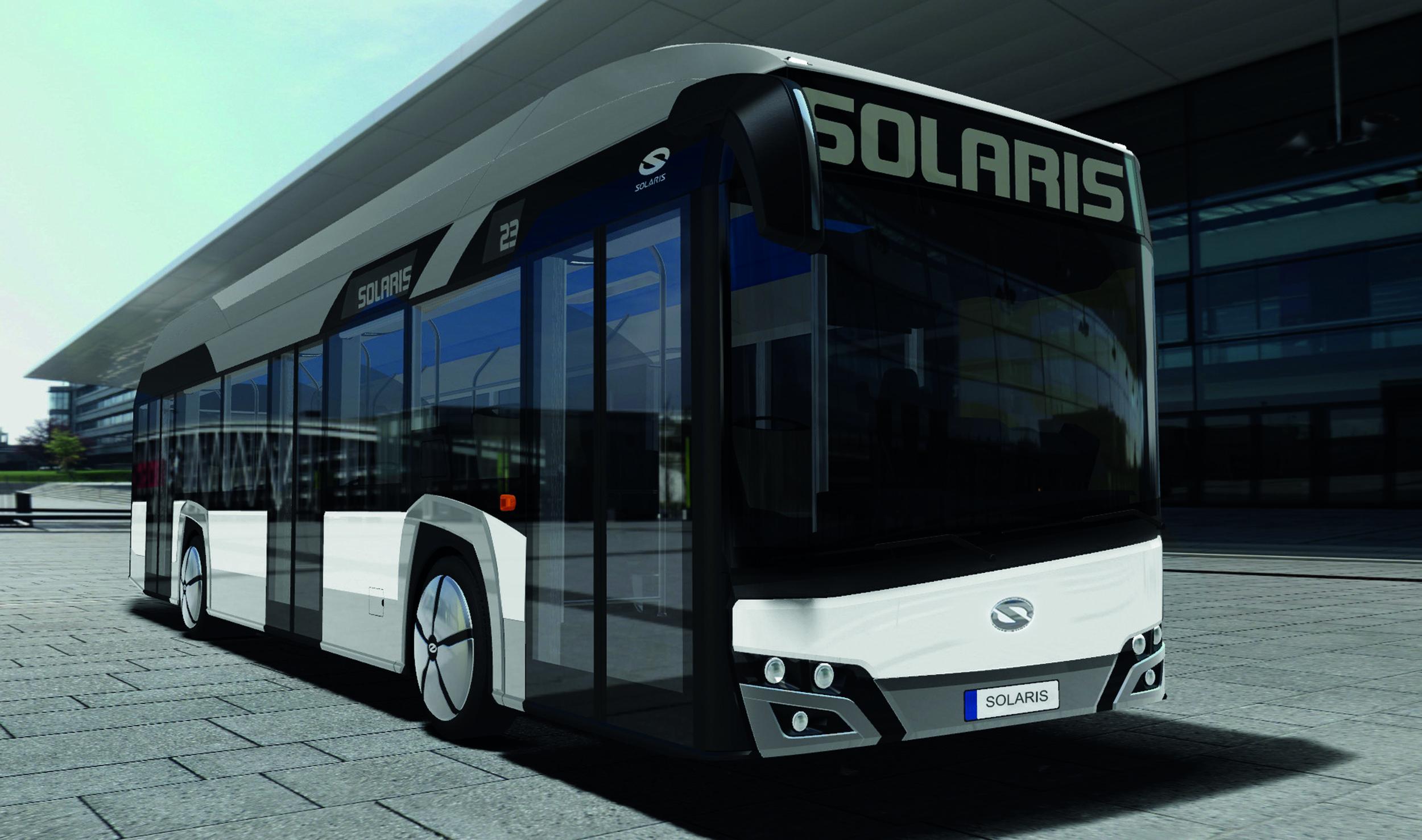 Solaris Urbino 12 Hydrogen na vizualizaci výrobce. (zdroj: Solaris Bus & Coach)