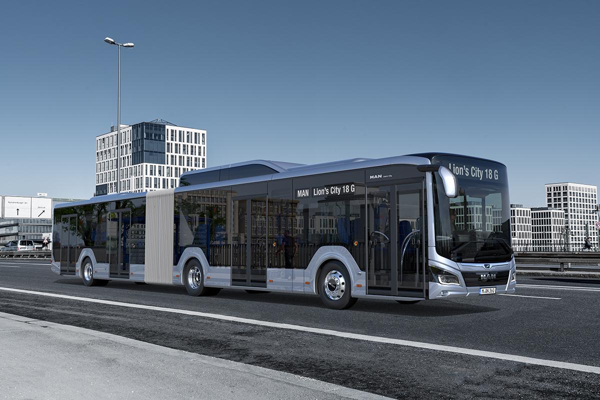 Nový MAN Lion's City G v provedení na CNG. Do Tych však patrně zamíří ještě starší verze tohoto modelu. (foto: MAN Truck & Bus)